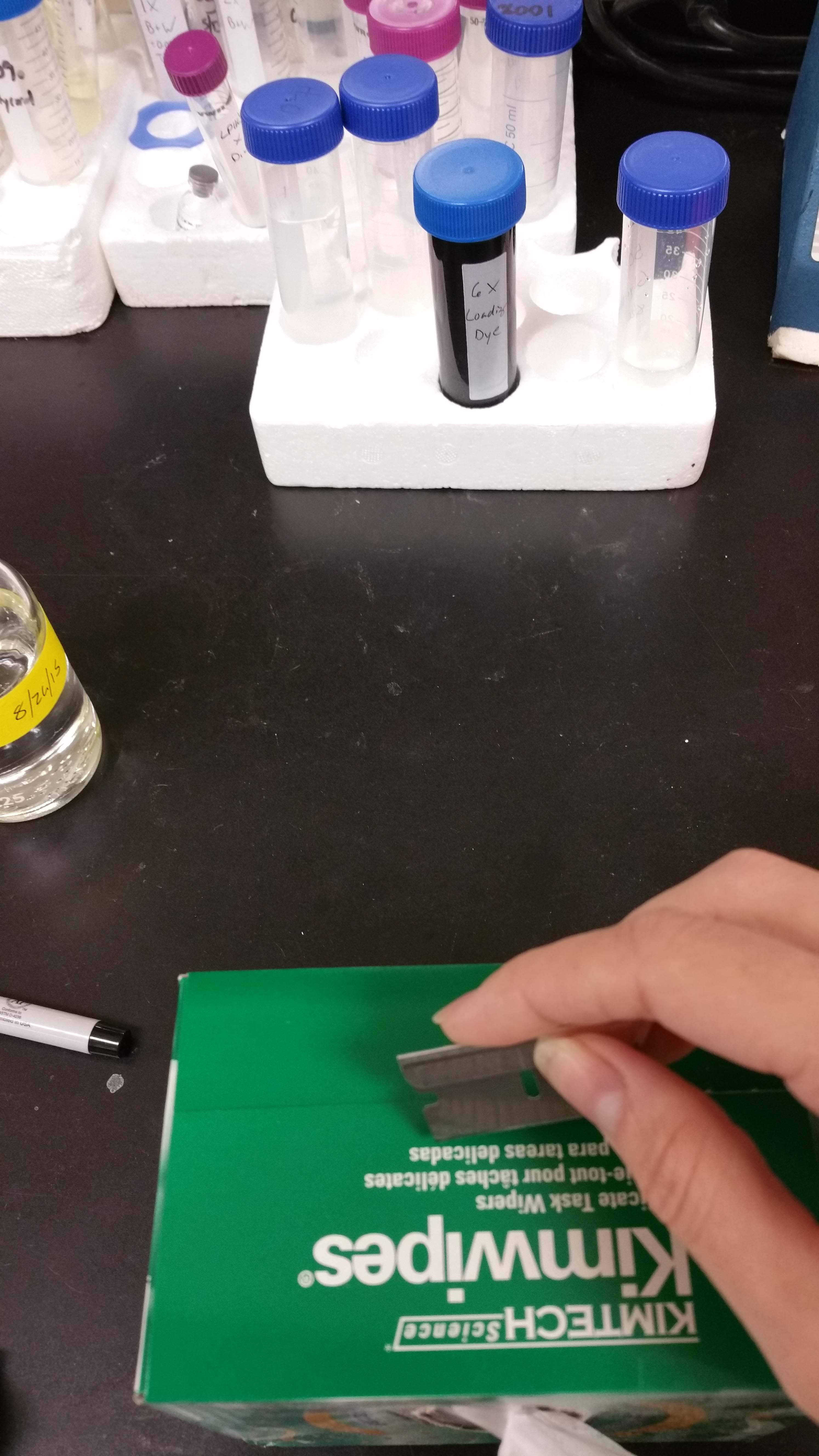 25 Real Lab Hacks from Researchers Like You - Mount Kimwipes to your lab bench with binder clips
